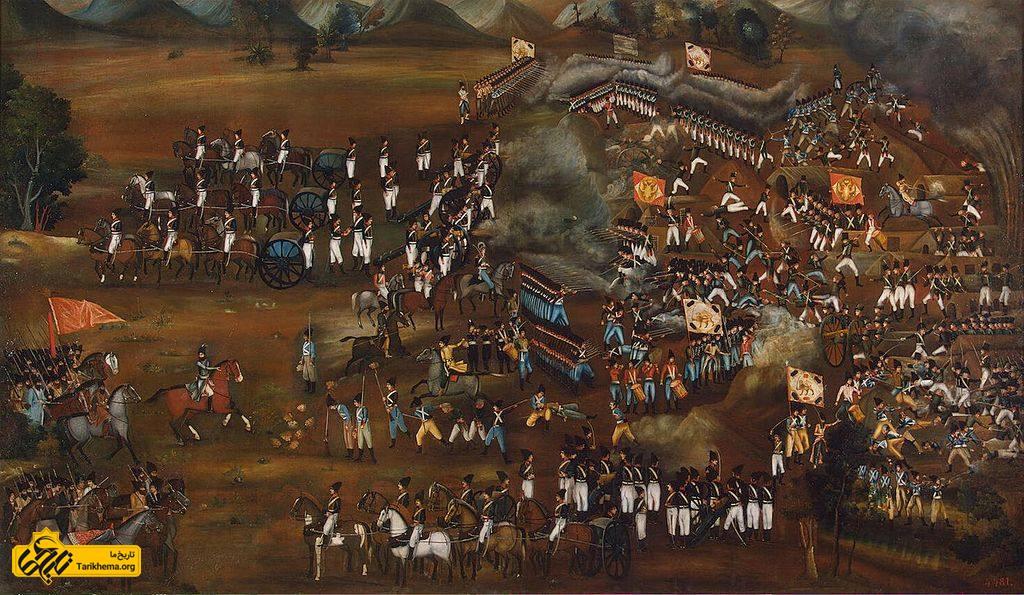 تابلوی نقاشی مربوط به سال ۱۸۱۵–۱۸۱۶ م که نبرد سلطانآباد در سال ۱۸۱۲ م و پیروزی سپاه عباس میرزا را ترسیم کردهاست. این تابلو در اصل در قصر عباس میرزا نگهداری میشده اما بعدها توسط روسها به روسیه برده شدهاست.