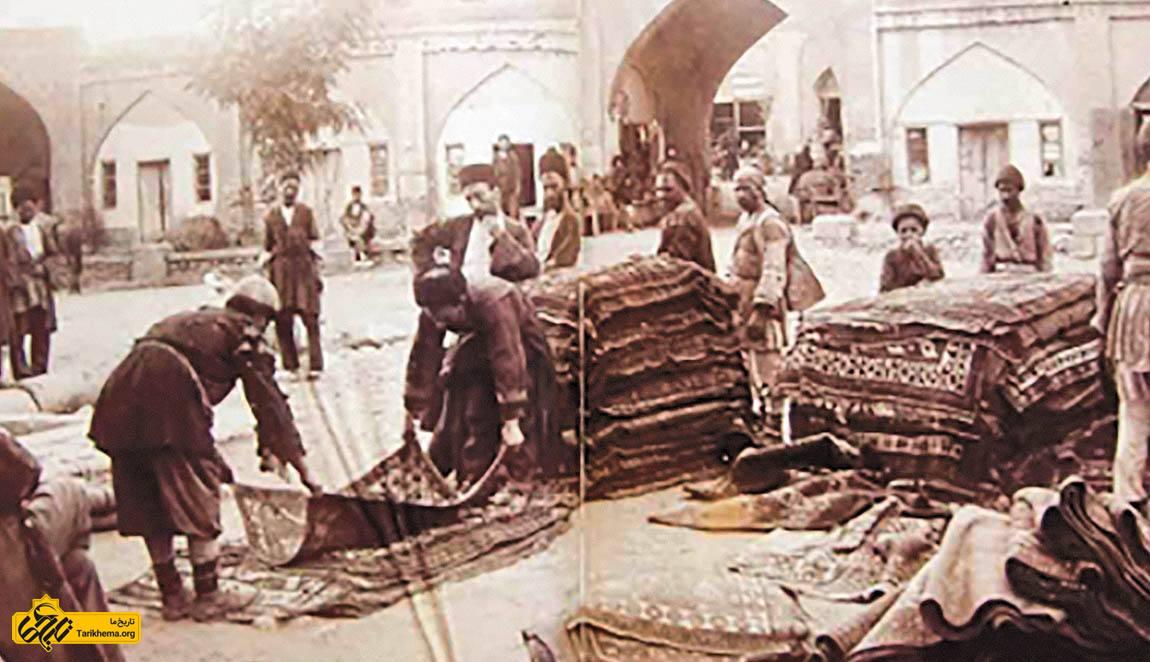 بازار فرش در قاجار