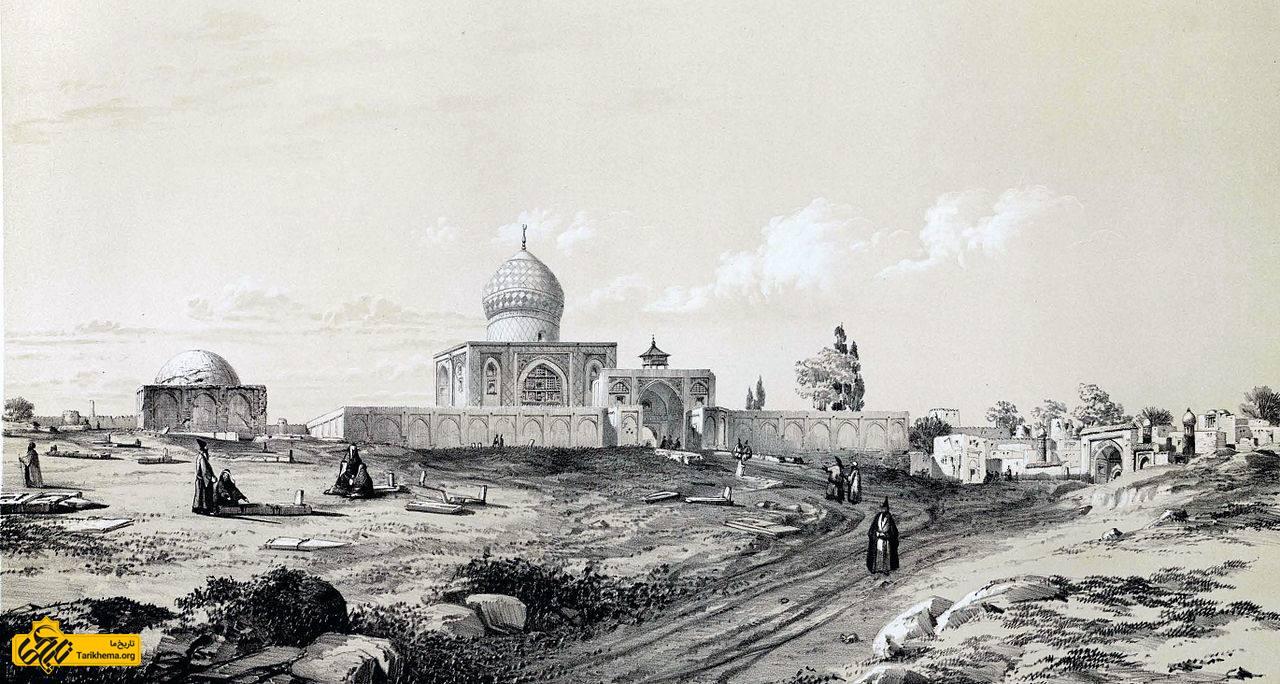 شاه اسماعیل دوم را در شاهزاده حسین دفن میکنند.[یادداشت ۱۶]