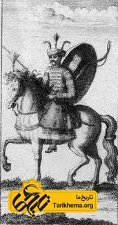یک سوار قزلباش در سدهٔ هفدهم میلادی (دورهٔ صفویه)، اثر ژان شاردَن
