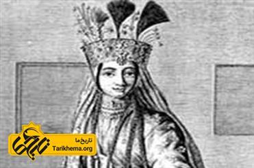 نگاره ای از یک زن صفوی