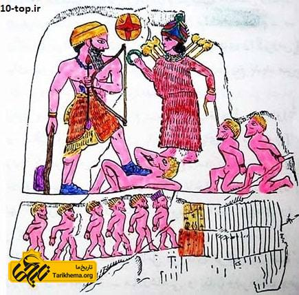 نقاشی سنگ برجسته آنوبانینی