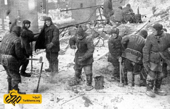 کار در هوای سرد گولاگ شوروی