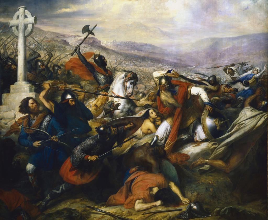 نقاشی نبرد بارگاه شهدا ، که جلوی پیشروی اسلامی به سمت اروپا را گرفت.