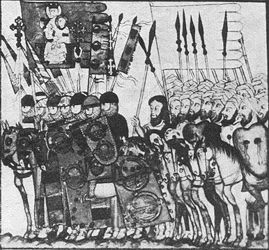 نقاشی از لشکر موحدون در جریان حمله به مراکش