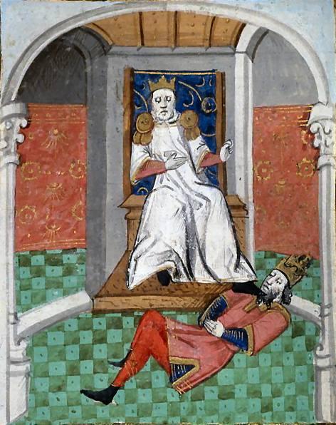 نقاشی فرانسوی، تحقیر امپراتور روم توسط آلپ ارسلان پس از نبرد ملازگرد