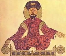 نقاشی پادشاه النصیر صلاح الدین ایوبی که در جنگ های خود برای متحد کردن مسلمانان و از بین بردن صلیبی ها بسیار به مملوک اعتماد می کرد.