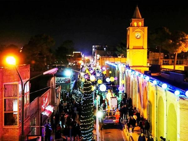 مراسم کریسمس در محله جلفا اصفهان