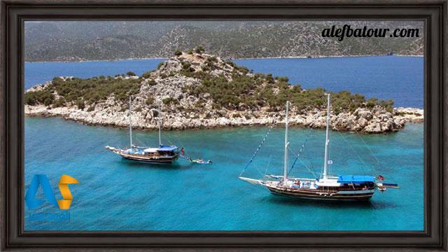 قایق سواری در دریای اژه کوش آداسی