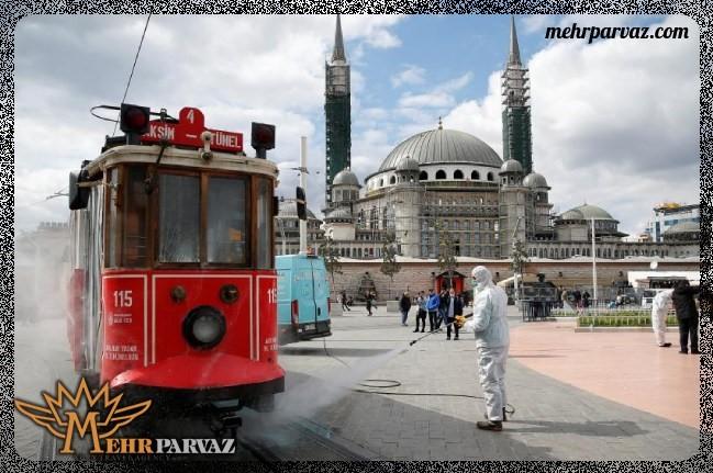 رعایت پروتکل های بهداشتی کرونا در استانبول