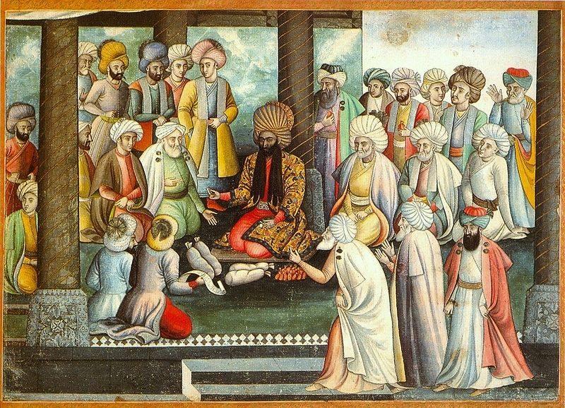 شاه لطان حسین و درباریان