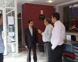 سفیر ایران در ایروان از دفتر نمایندگی هواپیمایی ماهان و آسمان در ارمنستان بازدید کرد