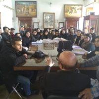 برگزاری کارگاه آموزشی طراحی مقرنس و یزدی بندی برای دانشجویان رشته معماری دانشگاه فردوسی مشهد