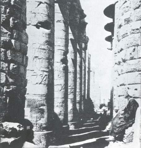 عکس ستون های معبد کرنک مصر باستان