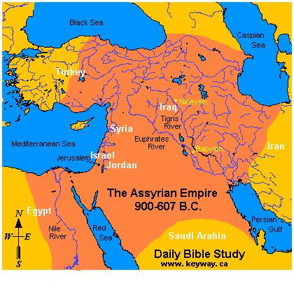 نقشه تمدن (سلسله) آشور باستان