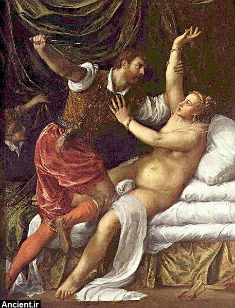 جاوز جنسی به لوکریشا توسط پسر پادشاه رو می